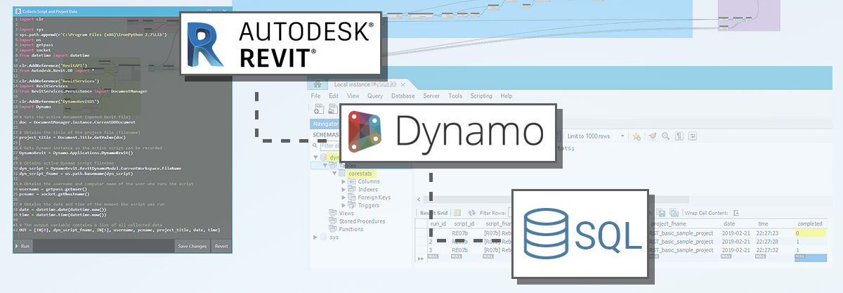 How to record Dynamo for Revit usage data into an SQL database
